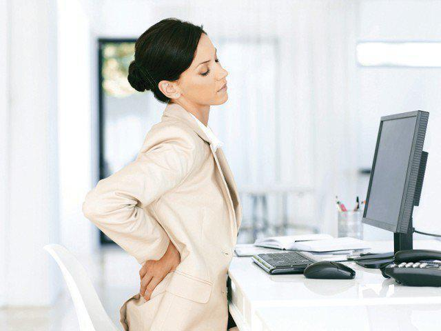 BACK PAIN AT YOUR DESK